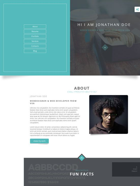 Website Design Ideas Resume Page  Amp Resume Page Click For