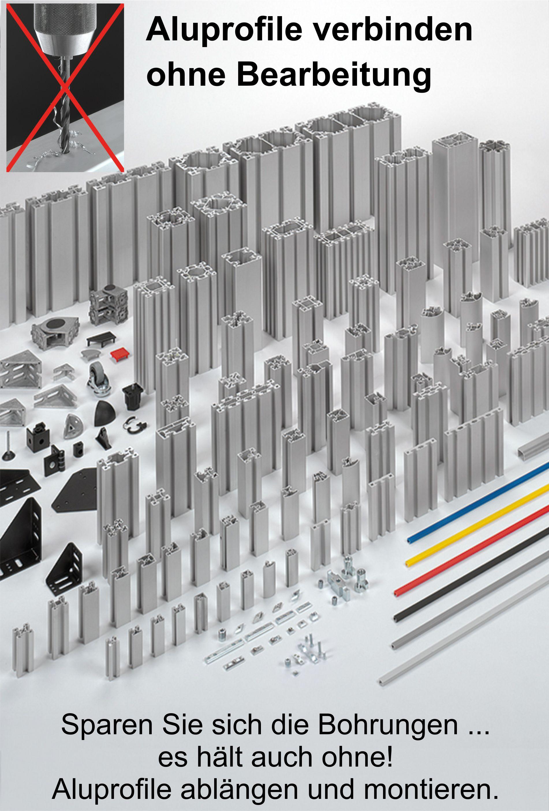 Aluprofil System Verbinden Ohne Bearbeitung Der Profile Werkzeug Aufbewahrung Verbindungselement Vorrichtungsbau