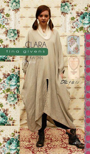 Clara Kaftan Sewing Pattern by Tina Givens | Tina givens | Pinterest