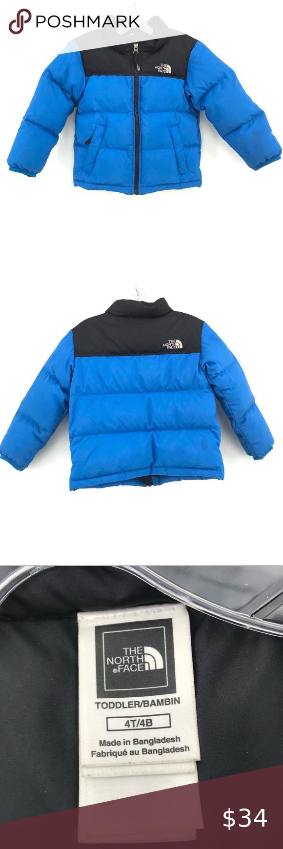 North Face Puffer Coat 4t Boys Blue Black Jacket Puffer Coat Black Jacket Jackets [ 1740 x 580 Pixel ]