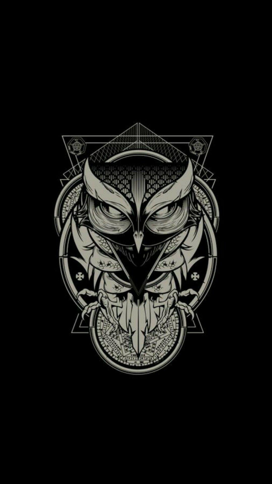 Dark Owl Wallpaper Iphone