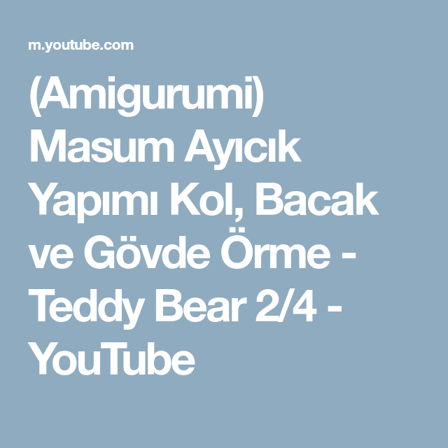 Amigurumi,Amigurumi Ayı Emmie Yapılışı.Amigurumi Emmie Bear Free ...   640x640