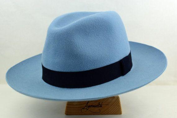 Wide Brim Fedora The Syracuse Light Blue Wide Brim Hat Men Fedora Hat For Men Mens Fur Felt Hat Wide Brim Hat Men Mens Felt Hat Fedora Hat Men
