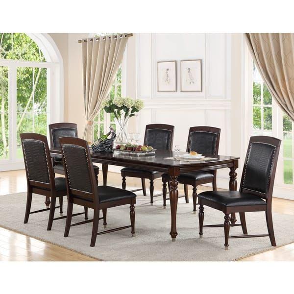 Abbyson Delano Luxury Leather 7-piece Dining Set | Kitchen ...