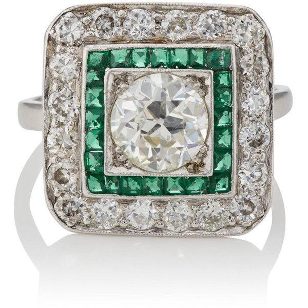 Womens White-Diamond & Ruby Art Deco Ring Stephanie Windsor Antiques NAE0P8h