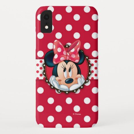 Minnie Mouse Smiling On Polka Dots Iphone Xr Case More Disney