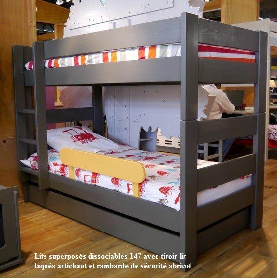 lits superposes enfants dissociables