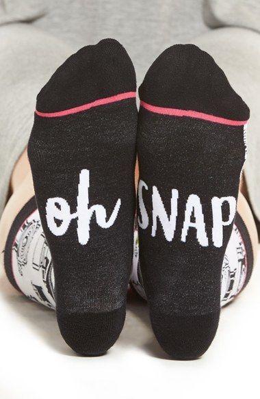 Women's Woven Pear Oh Snap Crew Socks