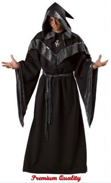 ad9aa67f63 Dark Sorcerer Costume Dark Sorcerer Premier Adult Costume Mysterious and  magical You will make a grand entrance in this super deluxe Theatrical  Quality