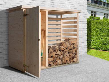 Karibu Gerateschrank Mit Feuerholzoption Lidl Deutschland Gerateschrank Gartenschrank Holz