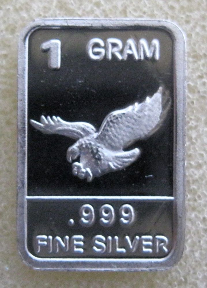 1 Gram Gr G 999 Fine Pure Solid Silver Bullion Bar Eagle 1g Nice Ingot Silver Bullion Silver Bars Pure Products