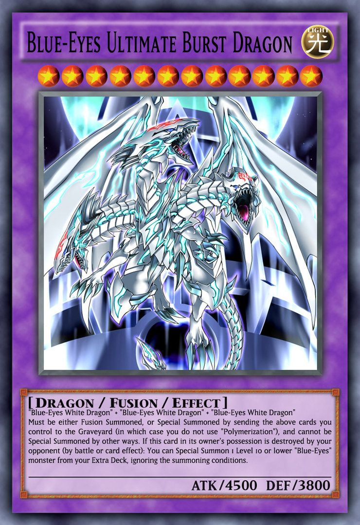 Blue Eyes Ultimate Burst Dragon By Genmanoou Deviantart Com On Deviantart Yugioh Dragon Cards Yugioh Yami Funny Yugioh Cards
