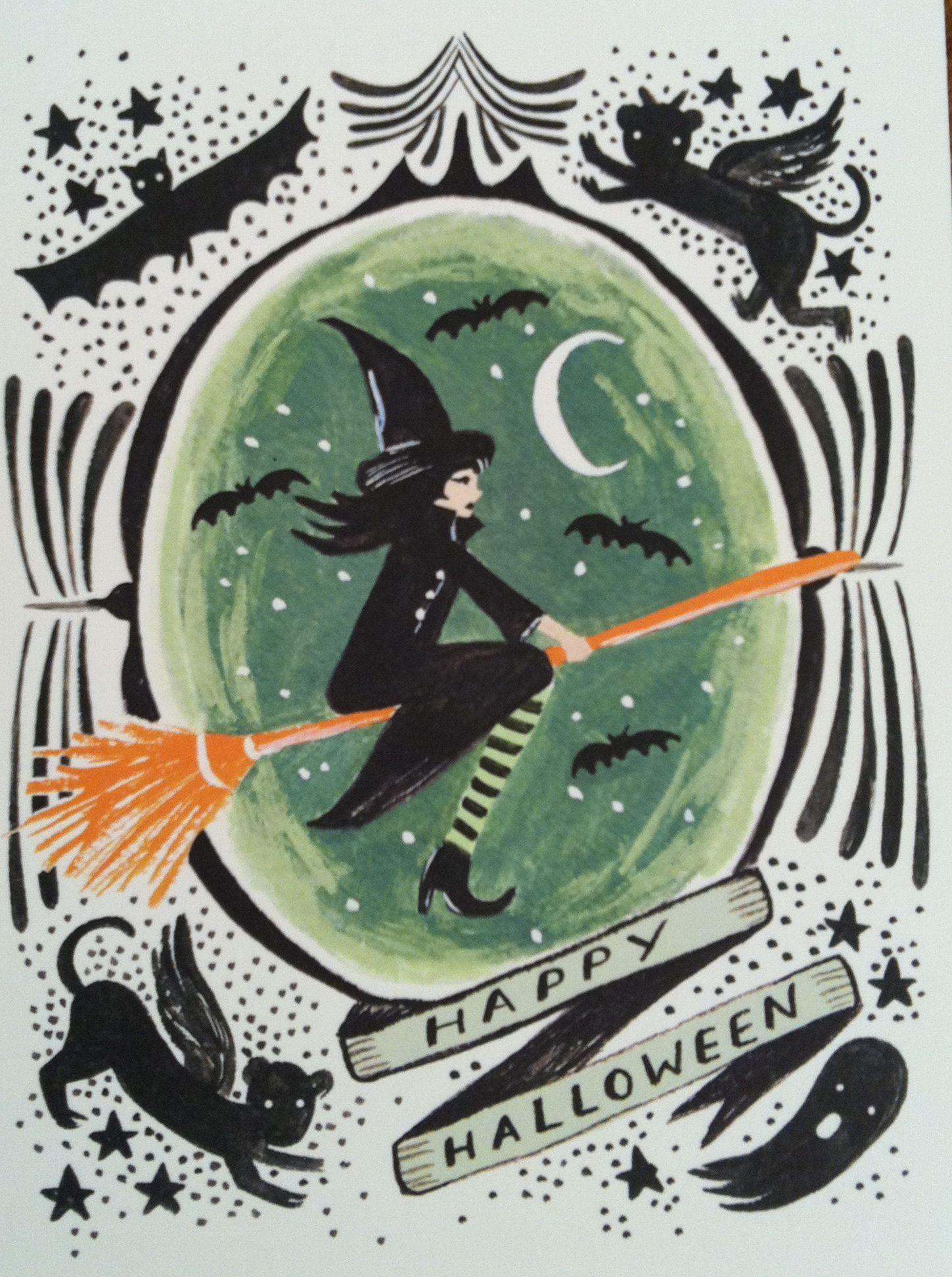 Happy Halloween Halloween witch cards, Halloween