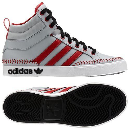 promo code 55b28 aff4e adidas Top Court Hi Shoes - Baseball Stitch