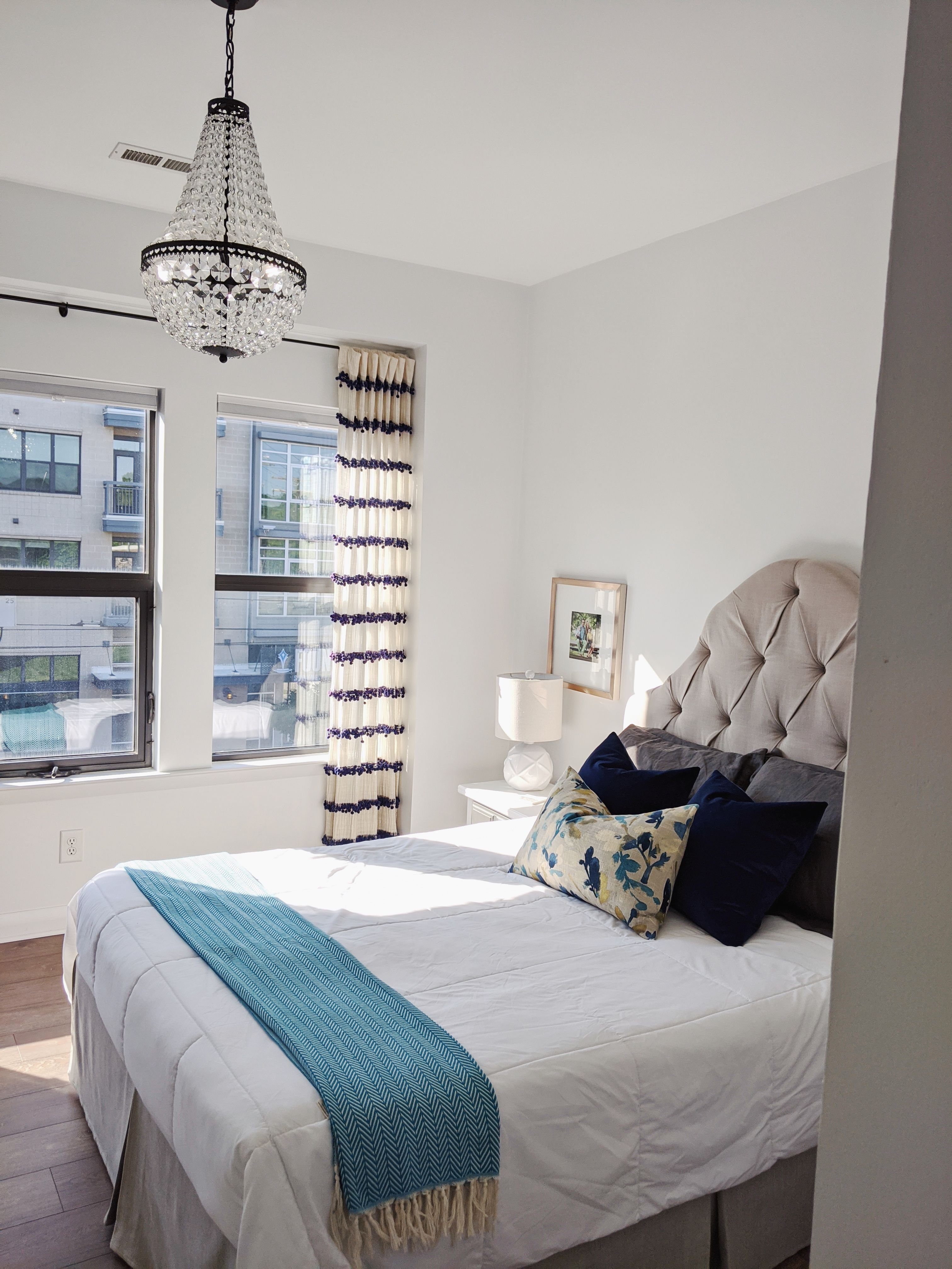 blue bedrooms in 2020 Blue bedroom, Blue interior, Home