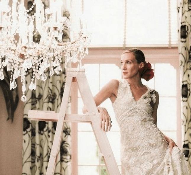 Carrie Bradshaw S Wedding Dress By Oscar De La A Vogue