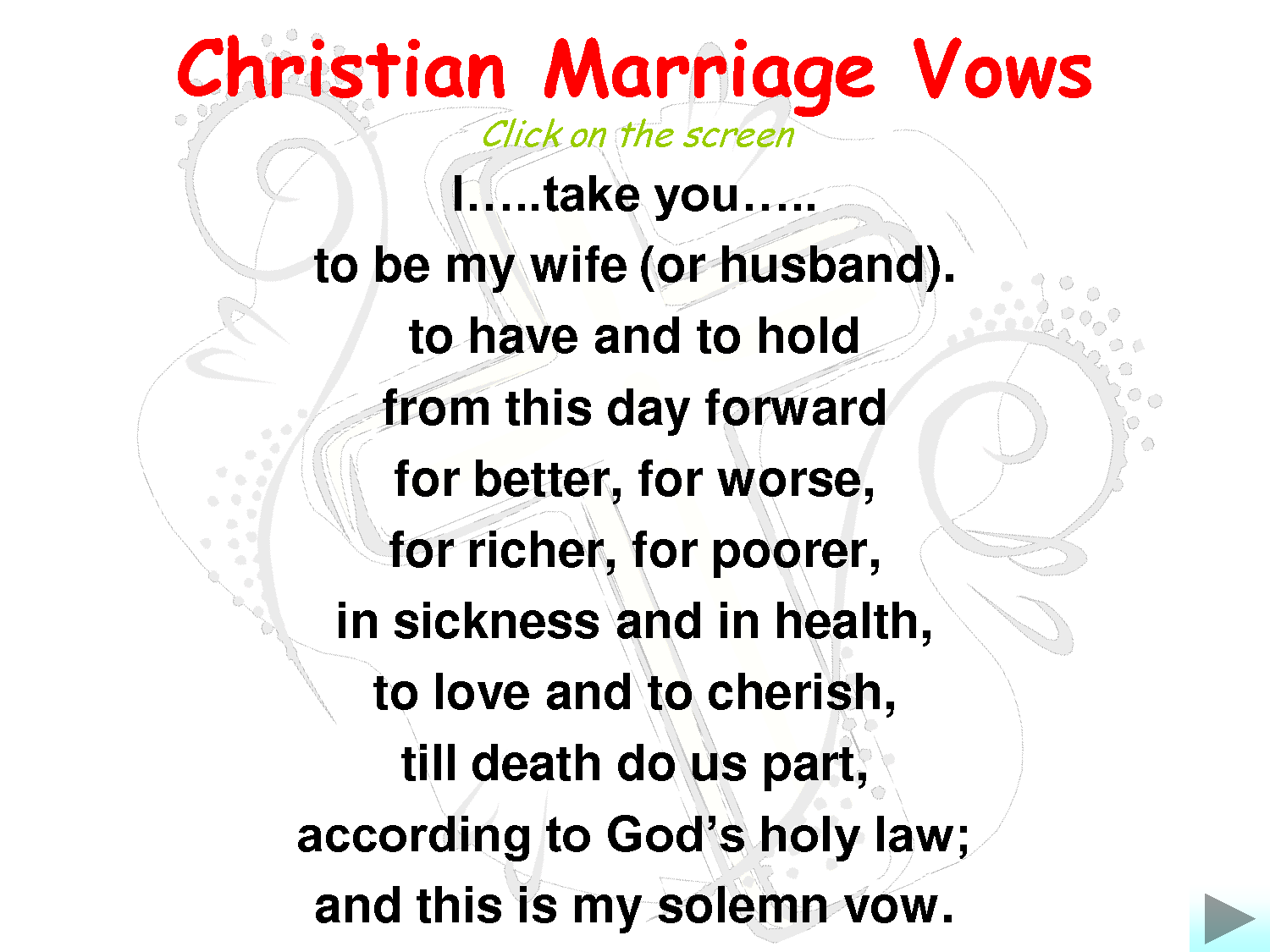 Marriage Wedding Vows Christian Marriage Vows I Love Reading These Just To Remind