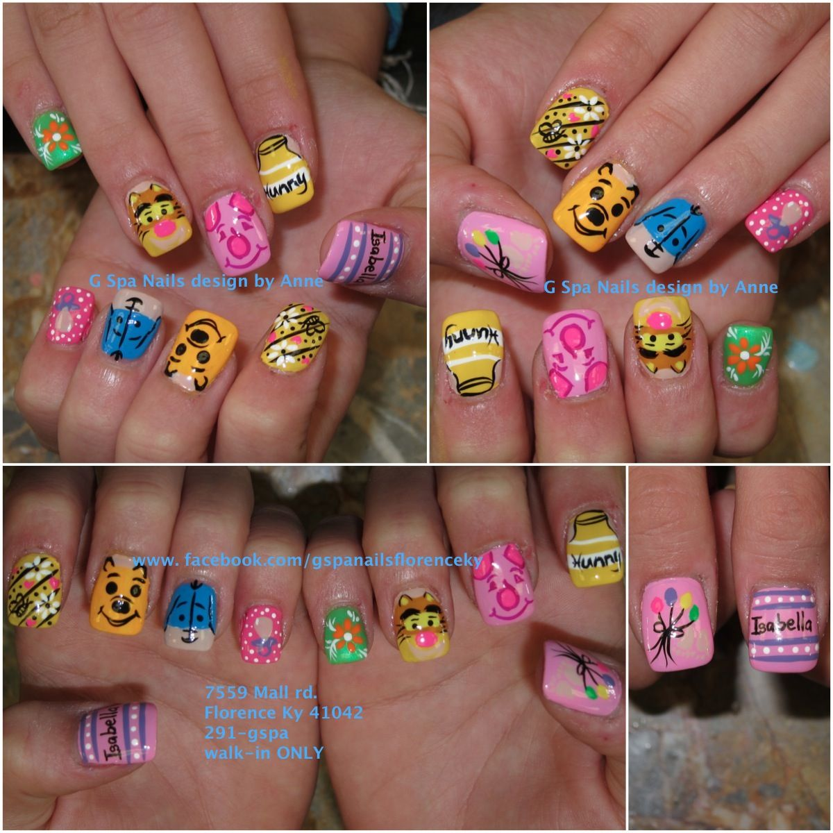 winnie the pooh nail designs Free Nail Technician Information http ...