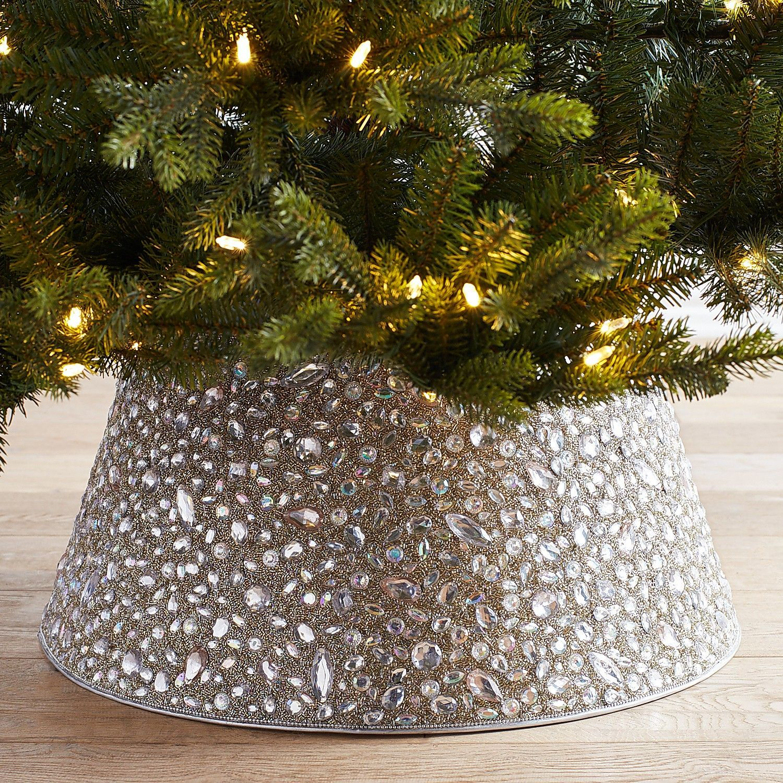 Beaded Gems Silver Tree Collar Pier 1 Imports Tree Collar Rose Gold Christmas Tree Gold Christmas Tree