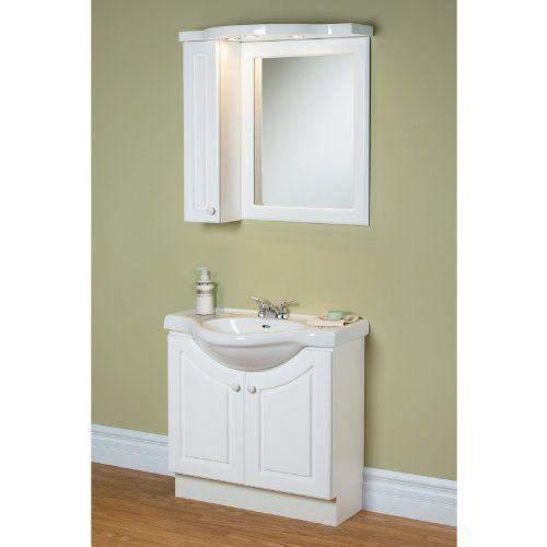 Photo Of Magickwoods White Eurostone Single Bathroom Vanity Set Create storage space and keep organized with the stylish Magickwoods White Eurostone Single