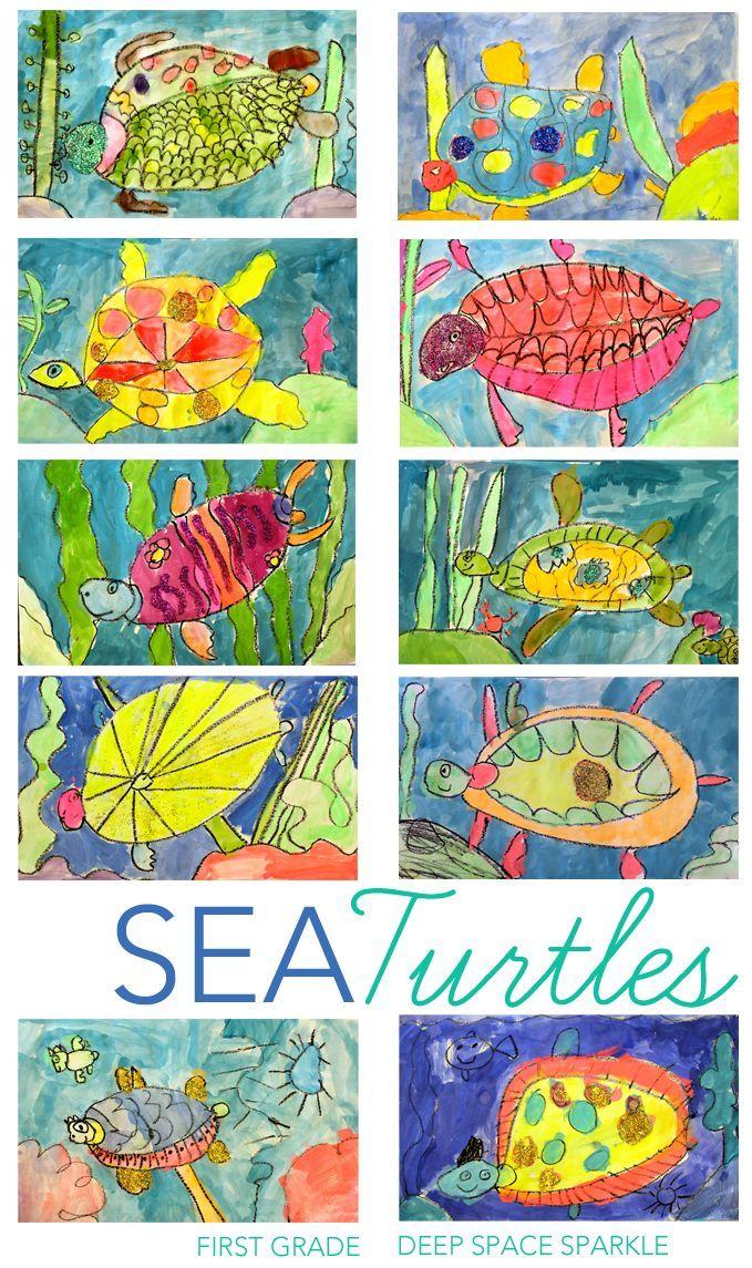 Sea Turtles Drawing & Painting Lesson Sea turtle art
