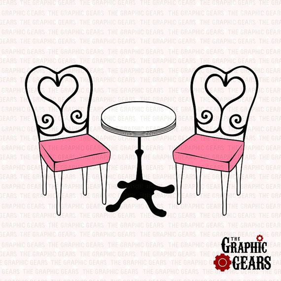 Cafe Table and Chairs Clip Art French Caf coffee table Clip Art