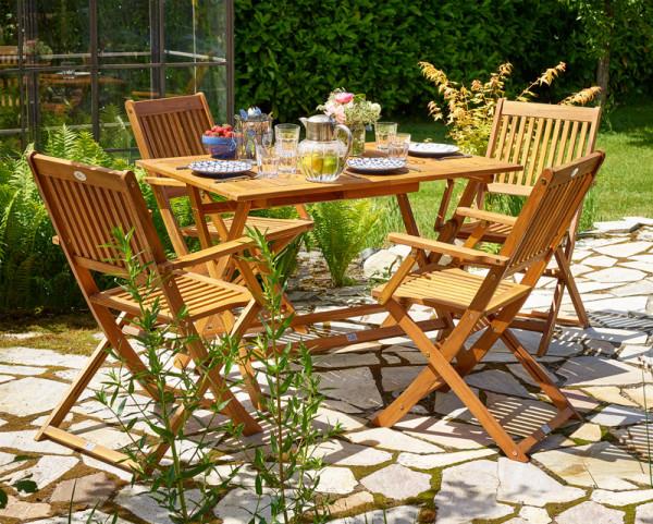 Schone Hochwertige Sitzgruppe 5 Tlg Sydney Akazienholz Fsc Zertifiziert Gartenmobel Und Zubehor Bequem On Sitzgruppe Garten Essgruppe Tisch Und Stuhle