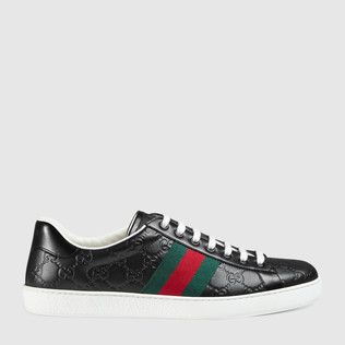 Ace Gucci Signature low-top sneaker