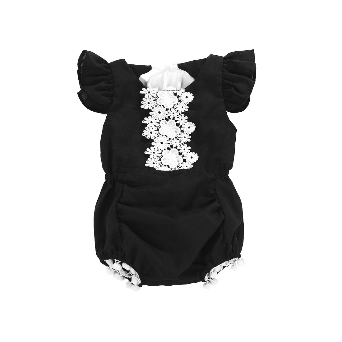 f080fd04f Classic black and white romper Dress up fancy or play in style Tie ...