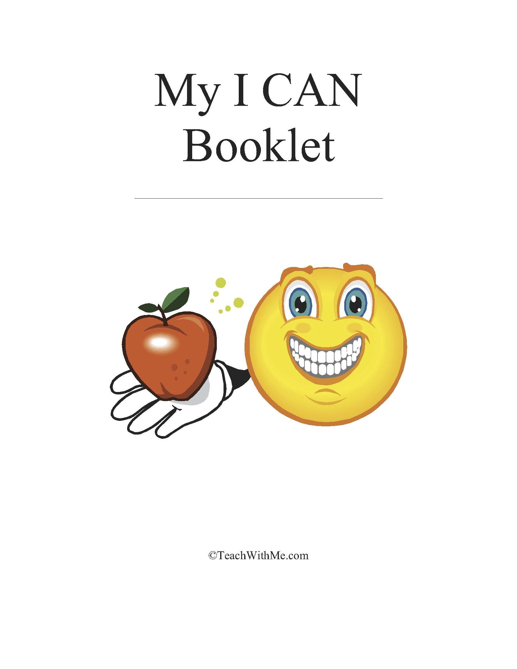 Easy Reader Booklet My I Can Book