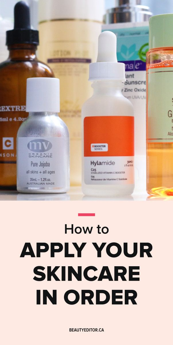 How To Apply Your Skincare Products In The Right Order And Why It Can Make A Difference For Your Skin How To Grow Eyebrows Skin Care Tips Skin Care