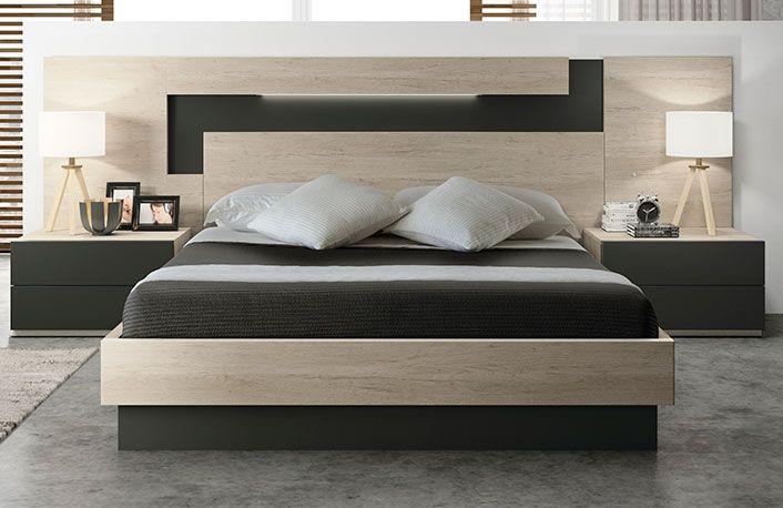 Dormitorio exclusivo nature pizarra cabeceros Pinterest - cabeceras de cama modernas
