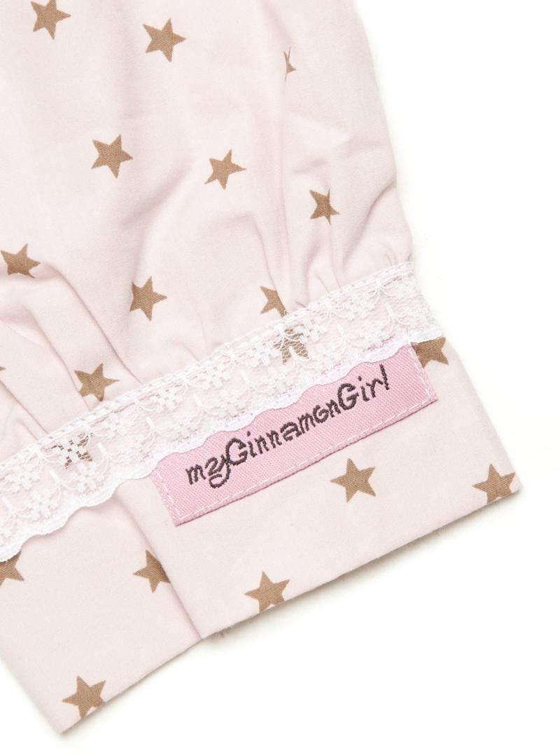 G-1012 Silje Bukse Antique Rosa m Stjerner | myCinnamonGirl nettbutikk barneklær hjertekjoler cinnamongirl velour kjole