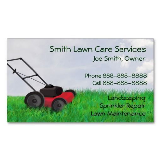 Lawn yard maintenance servies business card yard for Lawn care and maintenance
