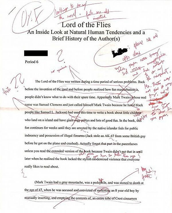 Mark Twain Was Evil And He Wrote Lord Of The Flies  Lol  Funny  Mark Twain Was Evil And He Wrote Lord Of The Flies