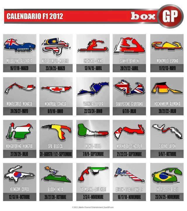 Calendario Formula1.F1 Calender Formulaone Motorsport Events F1 Racing Formula 1