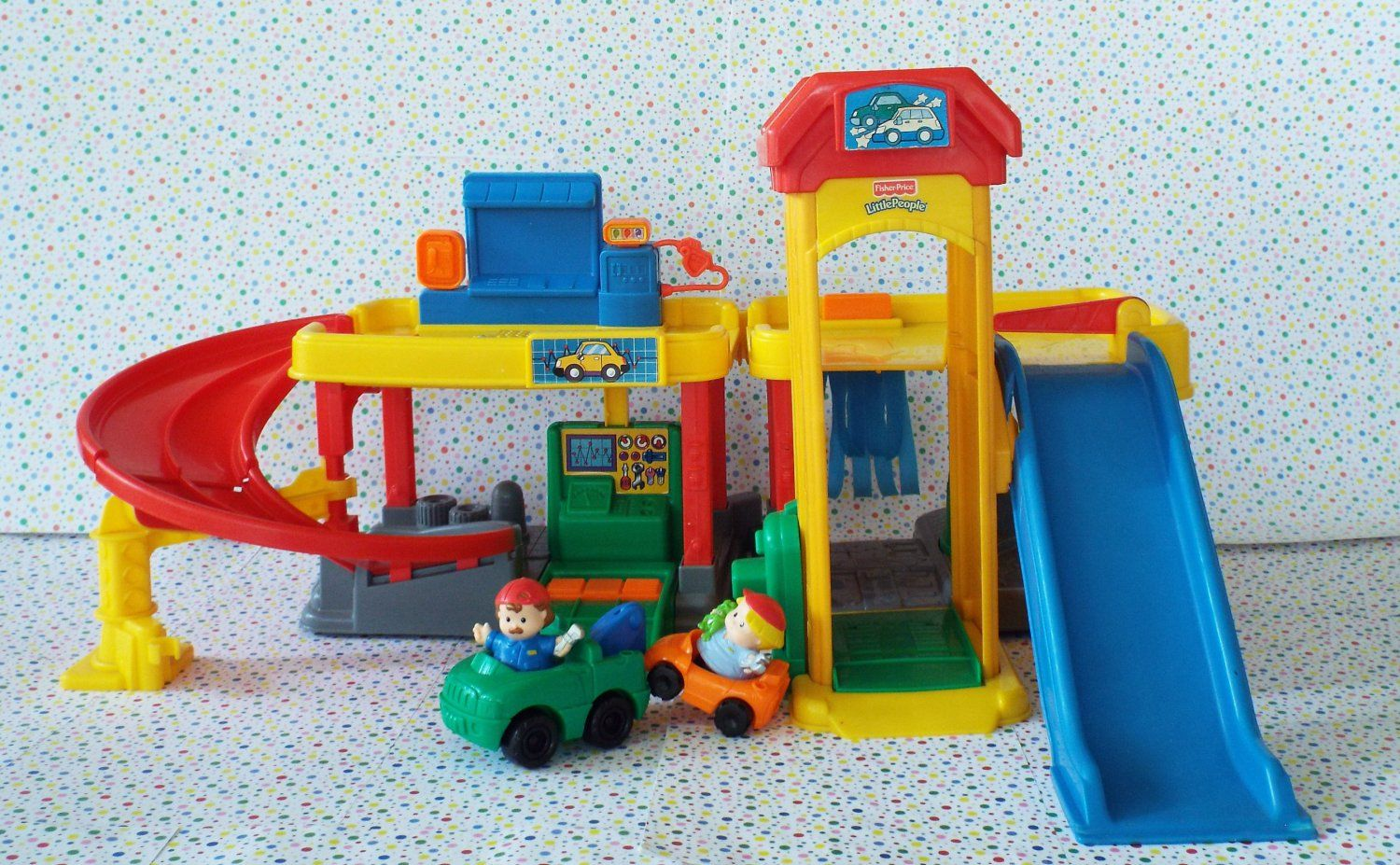 Fisher Price Little People Ramps Around Garage Little People Fisher Price Fisher