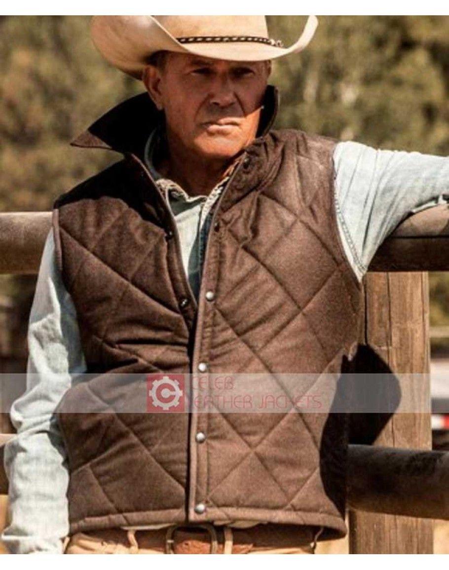 Buy Yellowstone Kevin Costner John Dutton Vest In 2020 Kevin Costner Vest Men Tv [ 1155 x 910 Pixel ]