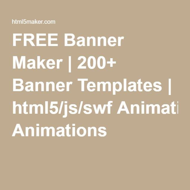 Free banner maker 200 banner templates html5jsswf animations free banner maker 200 banner templates html5jsswf animations maxwellsz