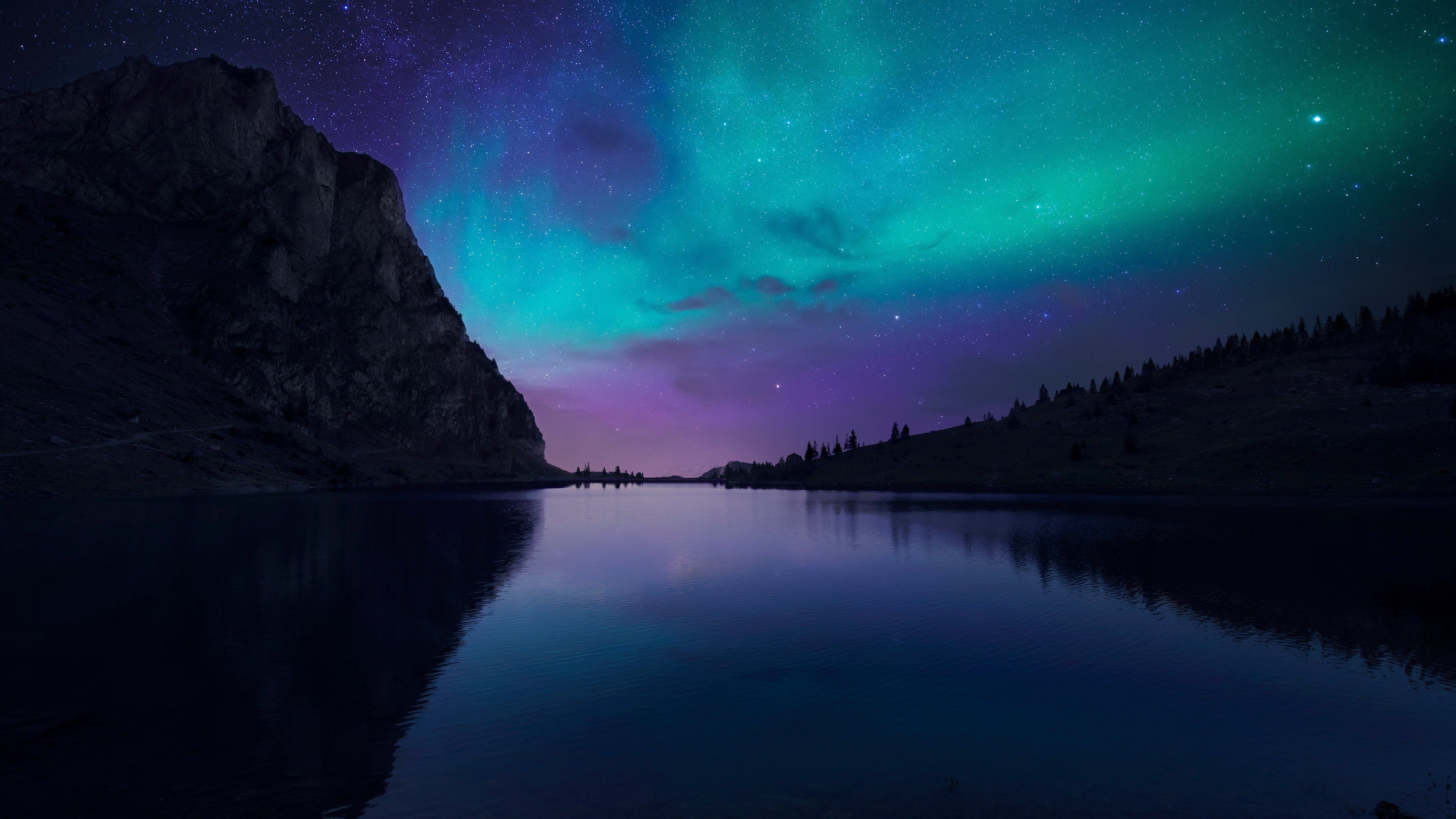 3840x2160 Aurora 4k Top Computer Wallpaper Northern Lights Wallpaper Landscape Wallpaper Night Sky Wallpaper