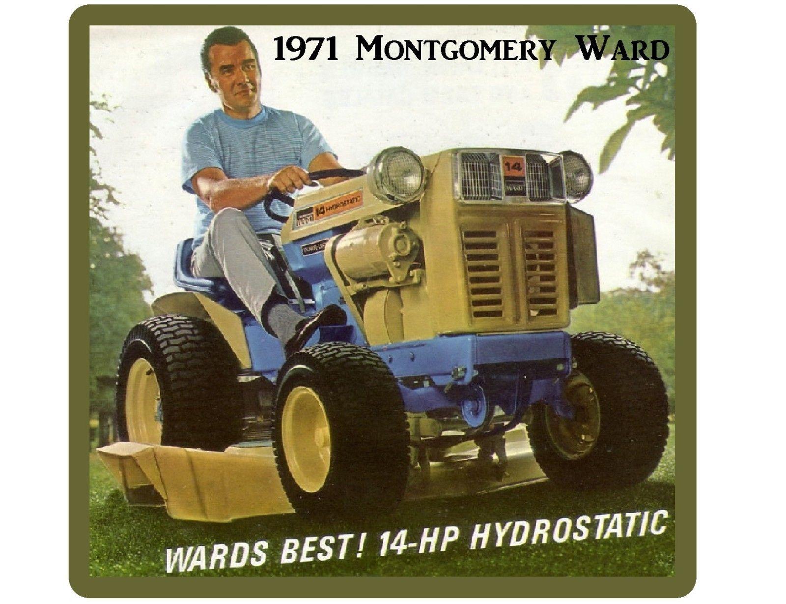 1971 Montgomery Ward 14 HP Lawn Tractor Refrigerator / Tool Box ...