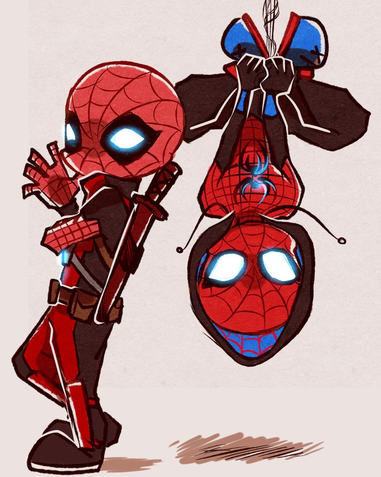 чемпионате, картинки марвел дэдпул и человек паук имеют разные