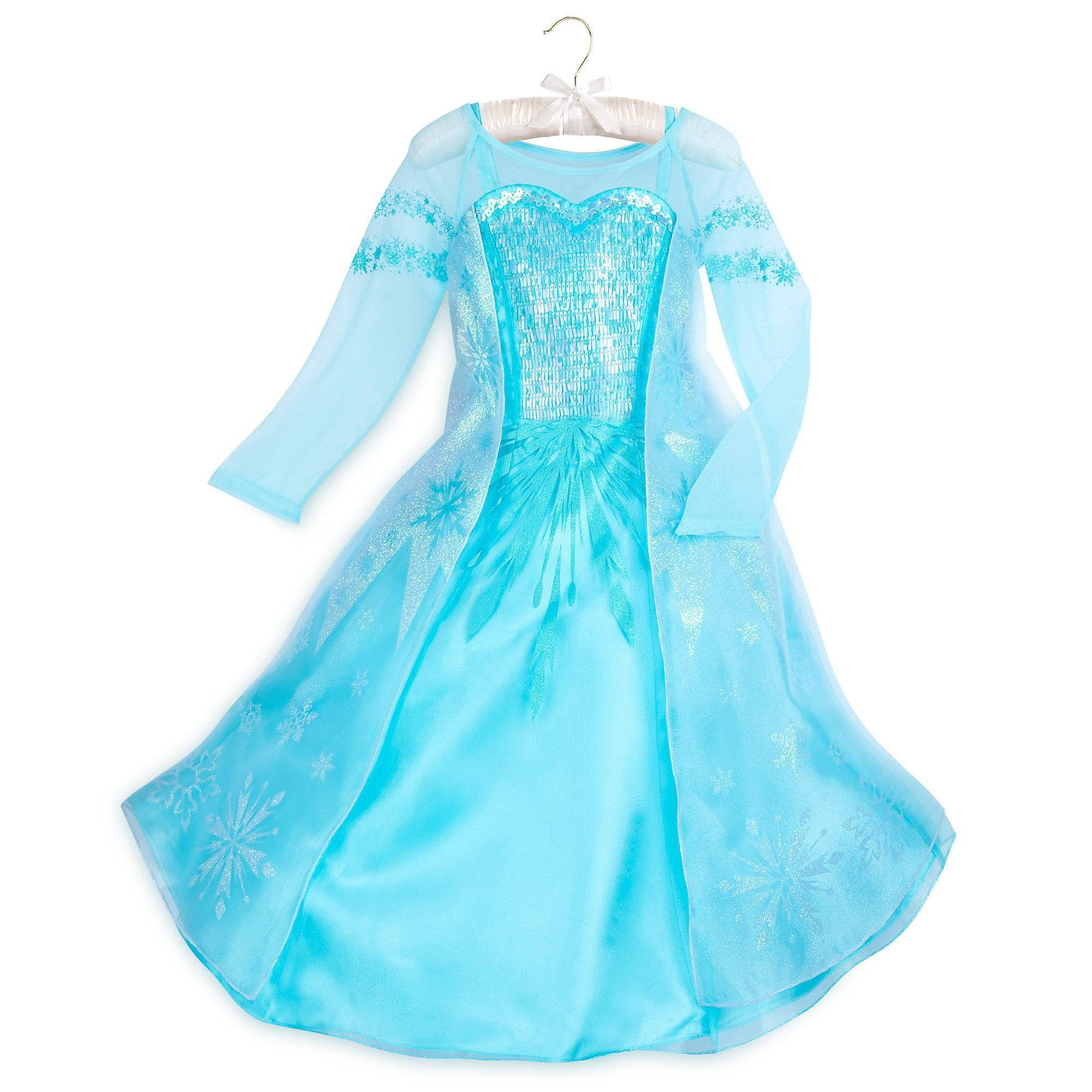 Authentic DISNEY PARKS World Frozen Princess ANNA Coronation Dress COSTUME 7//8