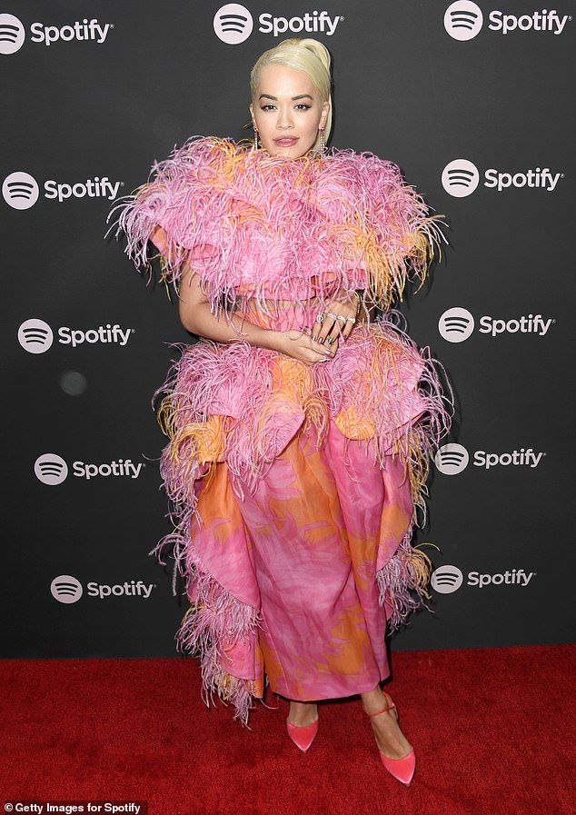 Rita Ora in Marc Jacobs attends the Spotify Best New