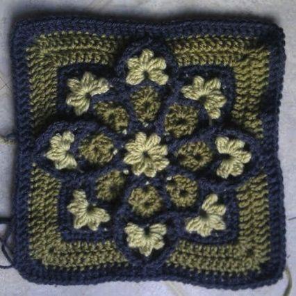 Fascinating crochet block | Crochet | Pinterest | Cuadrados, Tejido ...