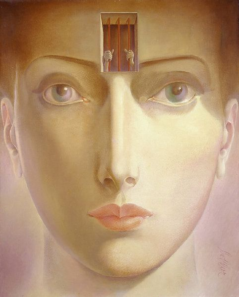 Bellor 1911-2000 - Belgian Symbolist painter
