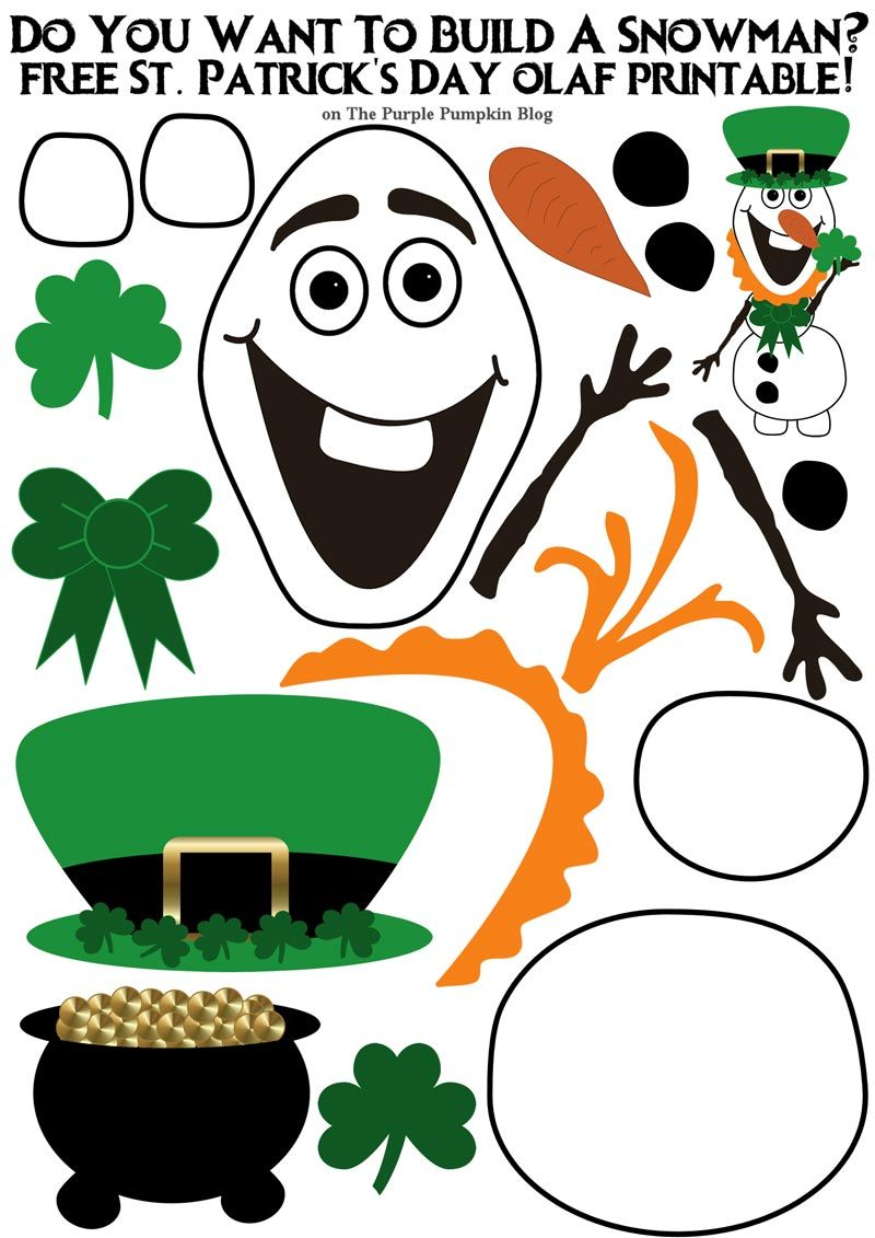 Do You Want To Build A Snowman St. Patrick\'s Day Olaf Edition! These ...
