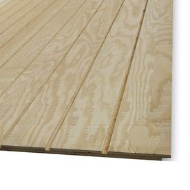 Natural Wood Plywood Untreated Wood Siding Panel Common 48 In X 96 In X 0 594 In Actual 47 87 In X Wood Panel Siding Diy Barn Door Cheap Garage Door Design