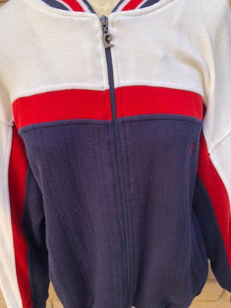 Pierre Cardin Track Jacket Red White And Blue Warm Up Jacket Workout Jacket 70 S Striped Track Jacket By Goodluxe On Etsy Red Jacket Jackets Workout Jacket