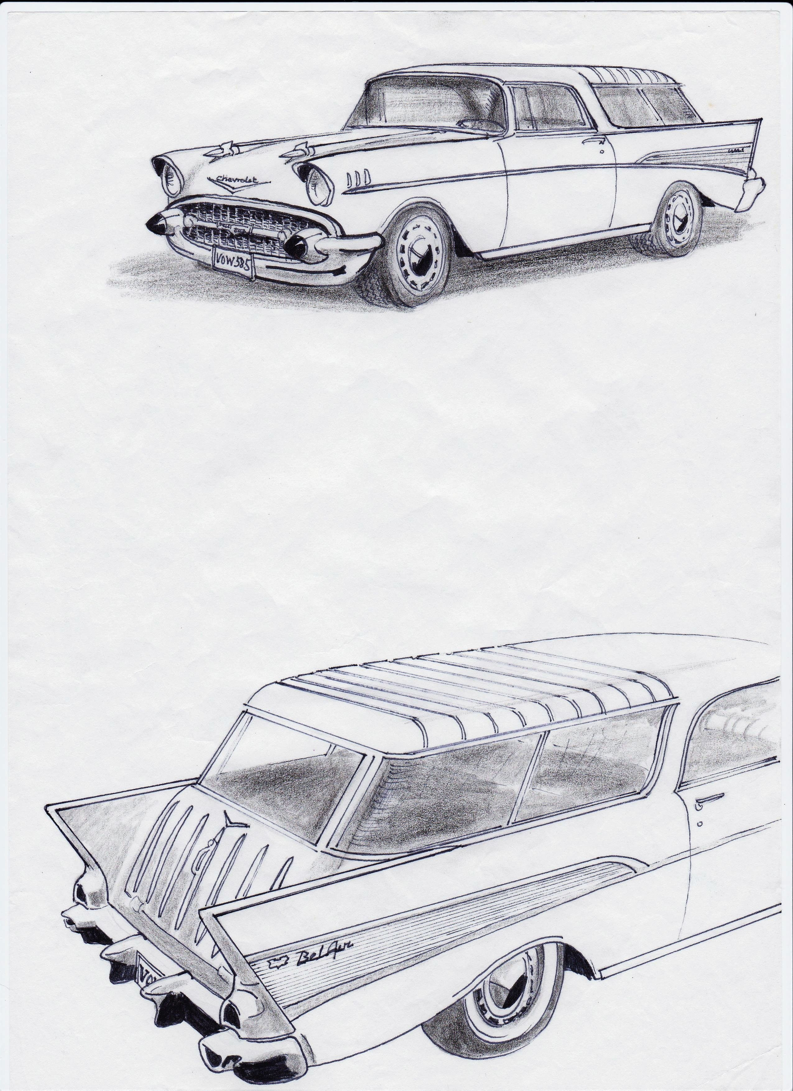 drag atv pencil drawing